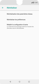 Wiko View 2 - Appareil - Réinitialisation de la configuration d
