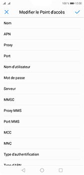 Huawei P20 Pro - Internet et roaming de données - Configuration manuelle - Étape 11