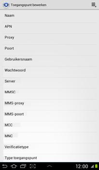 Samsung Samsung P3100 Galaxy Tab 2 7-0 - Internet - handmatig instellen - Stap 11