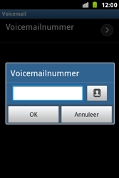 Samsung S7500 Galaxy Ace Plus - Voicemail - handmatig instellen - Stap 8