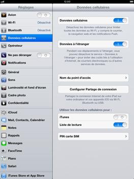Apple iPad Retina - Internet et roaming de données - Désactivation du roaming de données - Étape 4