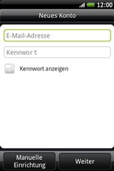HTC A510e Wildfire S - E-Mail - Konto einrichten - Schritt 6