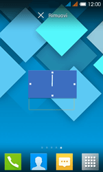 Alcatel One Touch Pop C3 - Operazioni iniziali - Installazione di widget e applicazioni nella schermata iniziale - Fase 7