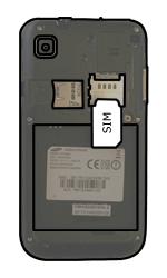 Samsung I9000 Galaxy S - SIM-Karte - Einlegen - Schritt 3
