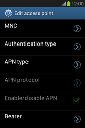 Samsung S6810P Galaxy Fame - Internet - Manual configuration - Step 14