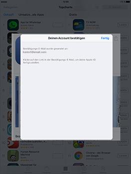 Apple iPad Mini 4 - Apps - Konto anlegen und einrichten - 32 / 35
