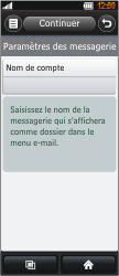 LG BL40 New Chocolate - E-mail - Configuration manuelle - Étape 11