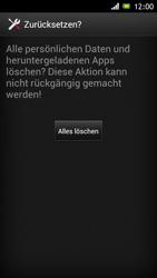 Sony Xperia J - Fehlerbehebung - Handy zurücksetzen - 9 / 10