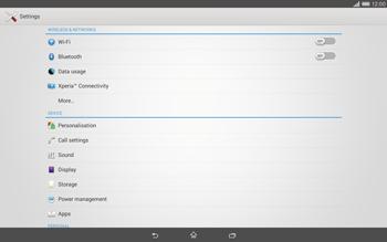 Sony Xperia Tablet Z2 LTE - WiFi - WiFi configuration - Step 4