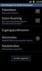 Samsung Galaxy S Advance - Netzwerk - Manuelle Netzwerkwahl - Schritt 11