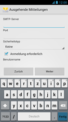 Alcatel One Touch Idol - E-Mail - Manuelle Konfiguration - Schritt 14