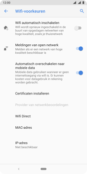 Nokia 9 - wifi - schakel Wi-Fi Assistentie uit - stap 10