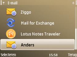 Nokia E72 - E-mail - Handmatig instellen - Stap 7