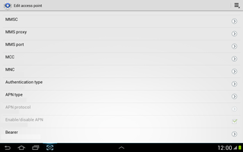Samsung N8000 Galaxy Note 10-1 - Internet - Manual configuration - Step 12