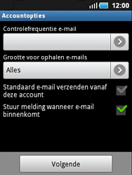 Samsung S5570 Galaxy Mini - e-mail - handmatig instellen - stap 12