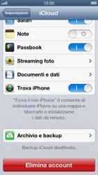 Apple iPhone 5 - Applicazioni - configurazione del servizio Apple iCloud - Fase 9