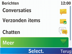 Nokia C3-00 - SMS - Handmatig instellen - Stap 4