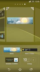Sony Xperia Z3 - Operazioni iniziali - Installazione di widget e applicazioni nella schermata iniziale - Fase 7