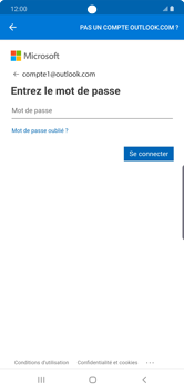 Samsung Galaxy Note 10 Plus 5G - E-mail - 032c. Email wizard - Outlook - Étape 9
