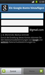 Samsung Galaxy S - Apps - Konto anlegen und einrichten - 6 / 21