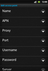Sony ST27i Xperia Go - Internet - Manual configuration - Step 10