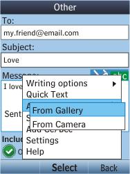 Nokia C2-05 - E-mail - Sending emails - Step 13
