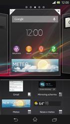 Sony Xperia Z - Operazioni iniziali - Installazione di widget e applicazioni nella schermata iniziale - Fase 6