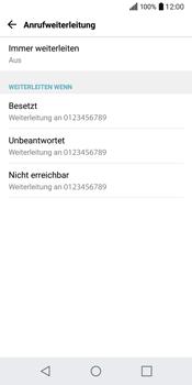 LG Q6 - Anrufe - Rufumleitungen setzen und löschen - Schritt 7
