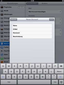 Apple iPad 3 - E-Mail - Konto einrichten - Schritt 8