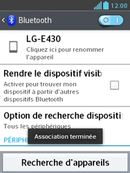 LG E430 Optimus L3 II - Bluetooth - connexion Bluetooth - Étape 11