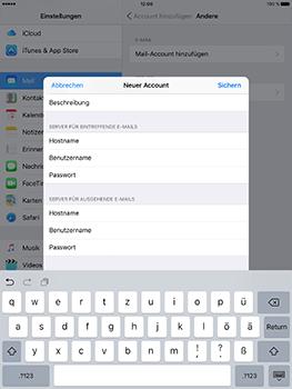 Apple iPad Air 2 - E-Mail - Konto einrichten - 1 / 1