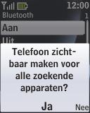 Nokia 2330 classic - bluetooth - aanzetten - stap 7