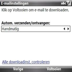 Samsung B7330 Omnia Pro - e-mail - handmatig instellen - stap 13
