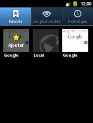 Samsung Galaxy Y - Internet et roaming de données - Navigation sur Internet - Étape 10