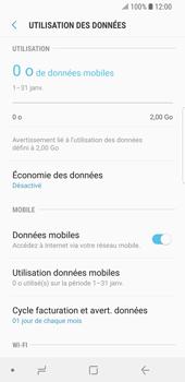 Samsung Galaxy S9 - Internet et roaming de données - Comment vérifier que la connexion des données est activée - Étape 7