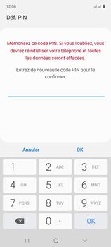 Samsung Galaxy A71 - Sécuriser votre mobile - Activer le code de verrouillage - Étape 10
