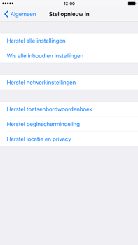 Apple iPhone 6s Plus - Resetten - Fabrieksinstellingen terugzetten - Stap 5