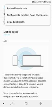 Samsung Galaxy J6 - Internet et connexion - Partager votre connexion en Wi-Fi - Étape 8