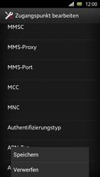 Sony Xperia U - Internet und Datenroaming - Manuelle Konfiguration - Schritt 14