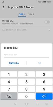 Huawei Mate 10 Pro - Android Pie - Operazioni iniziali - Come abilitare il pin della SIM - Fase 8