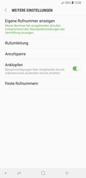 Samsung Galaxy Note9 - Anrufe - Rufumleitungen setzen und löschen - 8 / 14