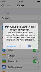 Apple iPhone 5 iOS 7 - Apps - Konfigurieren des Apple iCloud-Dienstes - Schritt 7