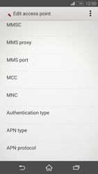 Sony D6603 Xperia Z3 - MMS - Manual configuration - Step 11