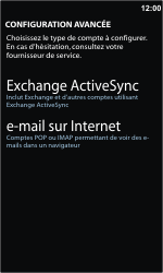 Samsung I8350 Omnia W - E-mail - Configuration manuelle - Étape 8