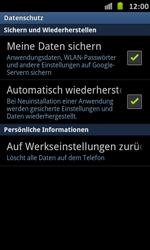Samsung Galaxy S Advance - Gerät - Zurücksetzen auf die Werkseinstellungen - Schritt 5