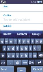 Samsung S8500 Wave - E-mail - Sending emails - Step 5