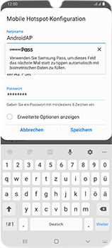 Samsung Galaxy A70 - WiFi - So aktivieren Sie einen WLAN-Hotspot - Schritt 9
