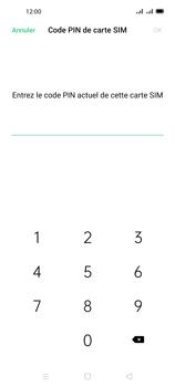 Oppo A72 - Sécuriser votre mobile - Personnaliser le code PIN de votre carte SIM - Étape 8