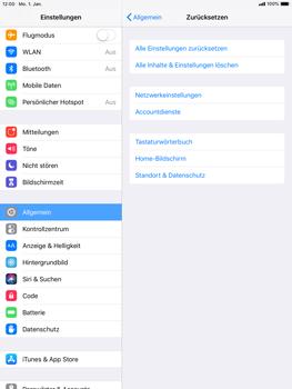 Apple iPad mini retina - iOS 12 - Fehlerbehebung - Handy zurücksetzen - Schritt 7