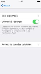 Apple iPhone 5s iOS 10 - Internet et roaming de données - Désactivation du roaming de données - Étape 5